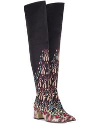Etro - Printed Over-the-knee Boots - Lyst