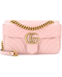 dd7b8a2349eb Gucci - GG Marmont Mini Leather Shoulder Bag - Lyst