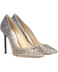 Jimmy Choo - Exclusive To Mytheresa – Romy 100 Glitter Court Shoes - Lyst