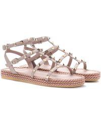 Valentino - Torchon Leather Sandals - Lyst