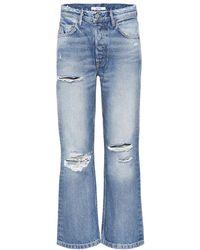 GRLFRND - Jeans cropped The Linda a vita alta - Lyst