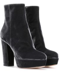 Gianvito Rossi - Exclusive To Mytheresa. Com - Temple Velvet Ankle Boots - Lyst