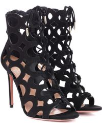 Aquazzura - Begum 105 Suede Ankle Boots - Lyst