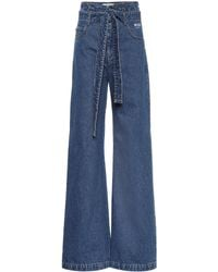 MSGM - High-rise Flared Jeans - Lyst