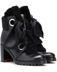 Christian Louboutin - Stivaletti Jenny From The Alps 70 in pelle - Lyst