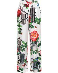 Dolce & Gabbana - Silk Pyjama Bottoms - Lyst