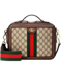 453a03dfd474dc Gucci /black GG Supreme Canvas And Leather Pearl Peony Wallet On ...