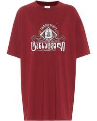 Vetements Camiseta de algodón estampada - Rojo