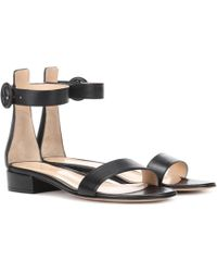 Gianvito Rossi - Portofino 20 Leather Sandals - Lyst