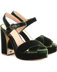 eeae543e173c Lyst - Tory Burch Keri Suede Ankle-strap Sandal in Black