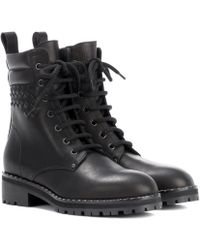 Bottega Veneta - Intrecciato Leather Ankle Boots - Lyst