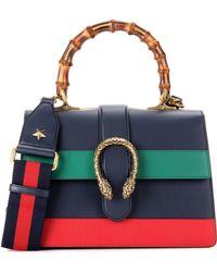 Gucci - Dionysus Bamboo Medium Leather Shoulder Bag - Lyst