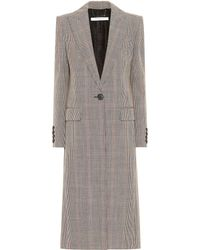 Givenchy - Checked Wool Coat - Lyst