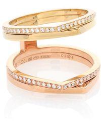 Repossi Esclusiva per Mytheresa - Anello Antifer in oro giallo e rosa 18kt con diamanti