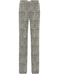 Valentino - Printed Wool Trousers - Lyst