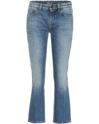 Saint Laurent - Cropped Jeans - Lyst