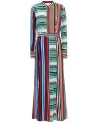 Diane von Furstenberg - Striped Silk Dress - Lyst