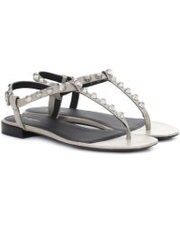 Balenciaga - Giant Stud Leather Sandals - Lyst