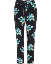 RED Valentino - Silk Trousers - Lyst