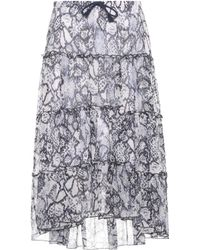See By Chloé - Printed Cotton And Silk Skirt - Lyst