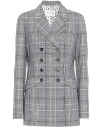 Etro | Checked Wool And Mohair Blazer | Lyst