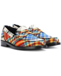 Burberry - Bedmont Check Loafers - Lyst
