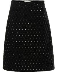 Gucci - Diamond Quilted Skirt - Lyst