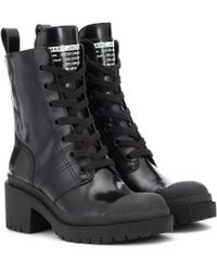 71da7ea49fe Marc Jacobs Bristol Laced Up Boots in Red - Lyst