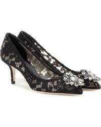 Dolce & Gabbana - Bellucci Lace 60mm Pumps - Lyst