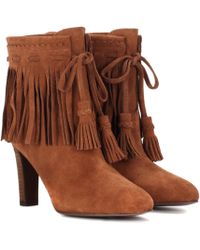 See By Chloé | Fringed Suede Ankle Boots | Lyst