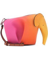 Loewe - Elephant Spray Mini Bag In Orange Calfskin - Lyst