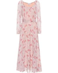 Co. - Floral-printed Silk Dress - Lyst