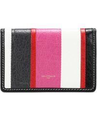 Balenciaga   Bazar Striped Leather Wallet   Lyst