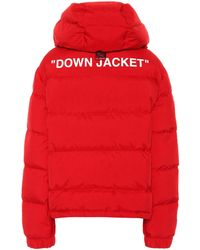 Off-White c/o Virgil Abloh - Hooded Down Puffer Jacket - Lyst