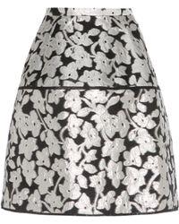 Oscar de la Renta - Metallic Jacquard Skirt - Lyst