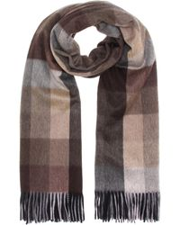 Max Mara - Checked Cashmere Scarf - Lyst