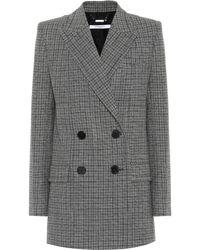 Givenchy - Checked Wool Blazer - Lyst