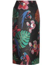Valentino - Brocade Skirt - Lyst
