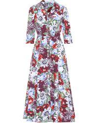 Erdem - Kasia Floral-printed Cotton Dress - Lyst