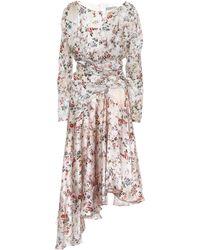 Preen By Thornton Bregazzi - Kay Floral Satin Dress - Lyst