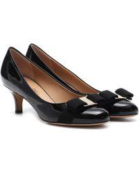 Ferragamo - Carla 55 Patent Leather Pumps - Lyst