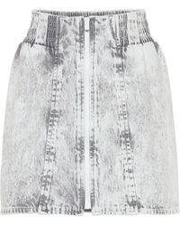 Miu Miu - Acid Wash Denim Miniskirt - Lyst