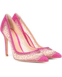 Gianvito Rossi - Exclusive To Mytheresa. Com – Rania Crystal-embellished Pumps - Lyst