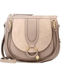 See By Chloé - Hana Hobo Large Leather And Suede Tote - Lyst