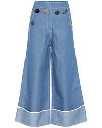 Rejina Pyo - Bailey Wide-leg Chambray Jeans - Lyst