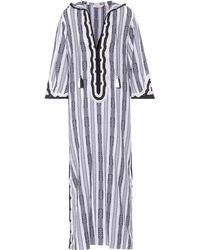 5da3a7c1773af Tory Burch - Corbin Striped Cotton Kaftan - Lyst