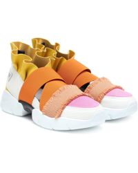 Emilio Pucci - Leather-trimmed Trainers - Lyst
