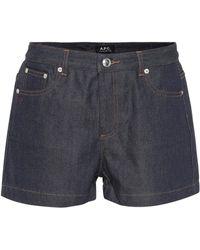 A.P.C. - Denim Shorts - Lyst