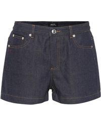 A.P.C. - Short en jean - Lyst