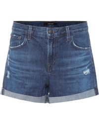 J Brand - Distressed Denim Shorts - Lyst